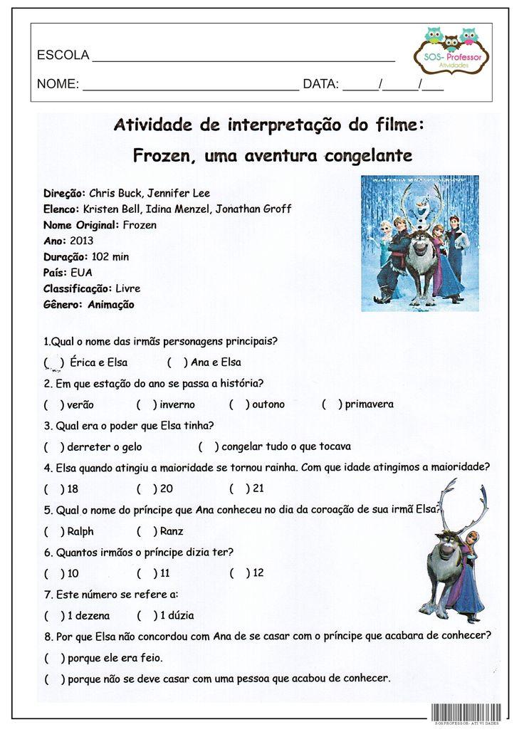 SOS PROFESSOR-ATIVIDADES: Filme
