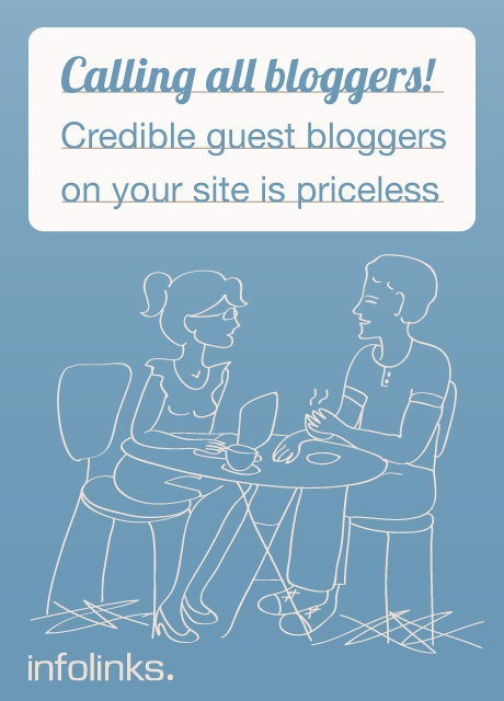 Optimization tip #2: Invite Guest Bloggers to compose posts for your site!   #InfolinksCountdowntoOptimization
