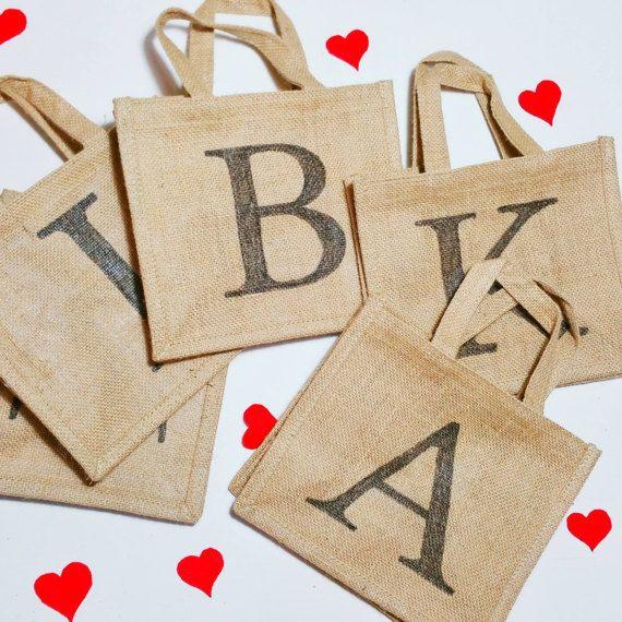 Personalised initial Bridesmaid Bag  Bridesmaid by MakeMemento
