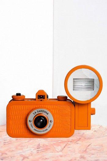 Orange La Sardina analogic Camera by Lomography