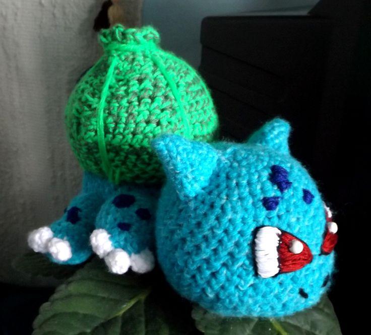 Horgolt Bulbasaur I. (Crocheted Bulbasaur) #crochet #amigurumi #baby #bulbasaur #cute #pokemon