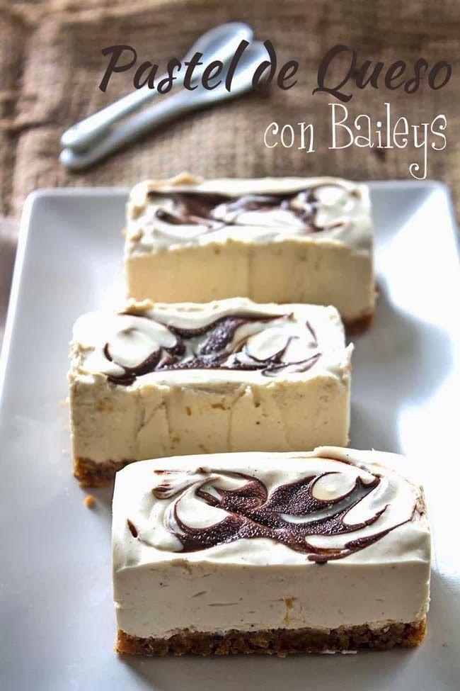 Pastel de queso con Baileys