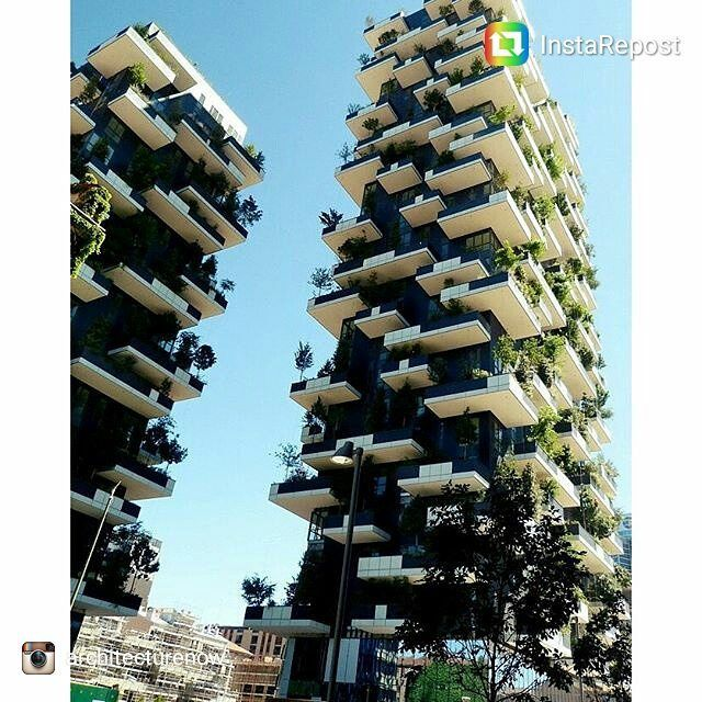 #repost @architecturenow  Bosco Verticale Design(Vertical Forest) by Stefano Boeri - Milan Italy  #sustainable #architecture #design #greenDesign #concept #building #milan #italy #sustainability #greenBalconies #balcony #concept #cew #civilengineeringworld #engineering #civil #world #tower Re-post by Hold With Hope