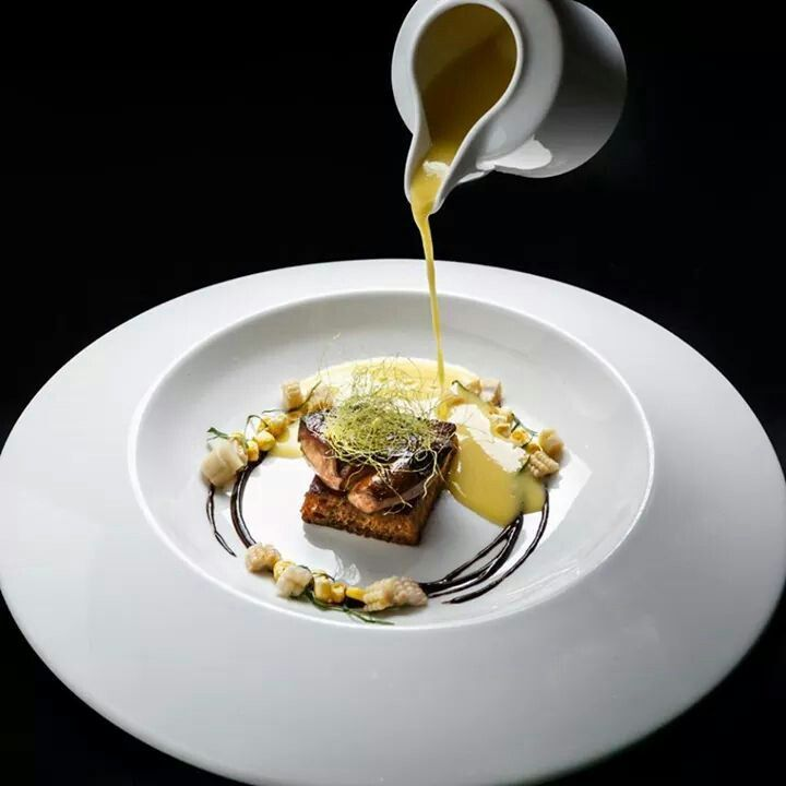 Foie gras on a toasted squash brioche