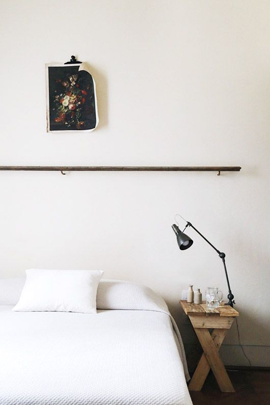 simple and clean rustic bedroom decor. / sfgirlbybay