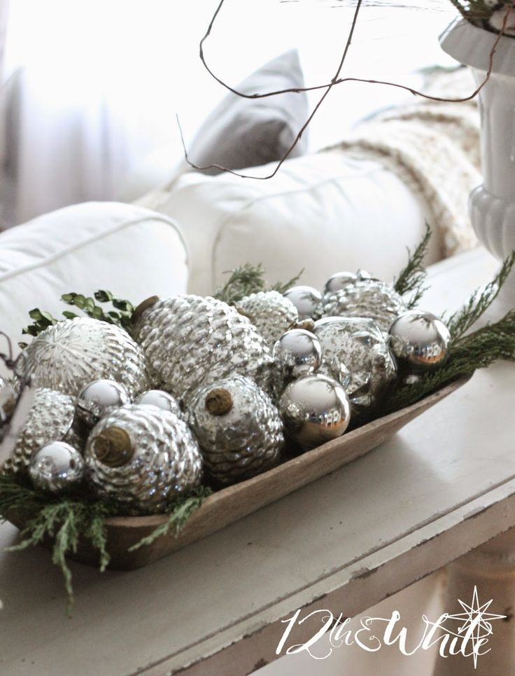 Christmas House Tour - lots of naturals, neutrals and metallics