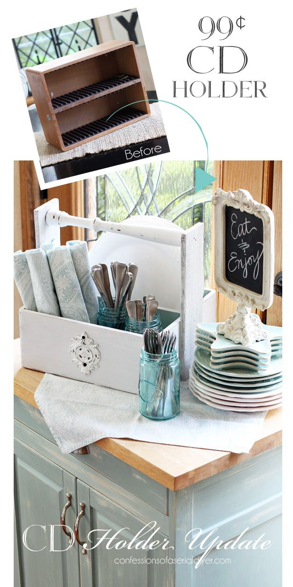 Turn an old CD Holder into an Awesoem Caddy! confessionsofaserialdiyer.com