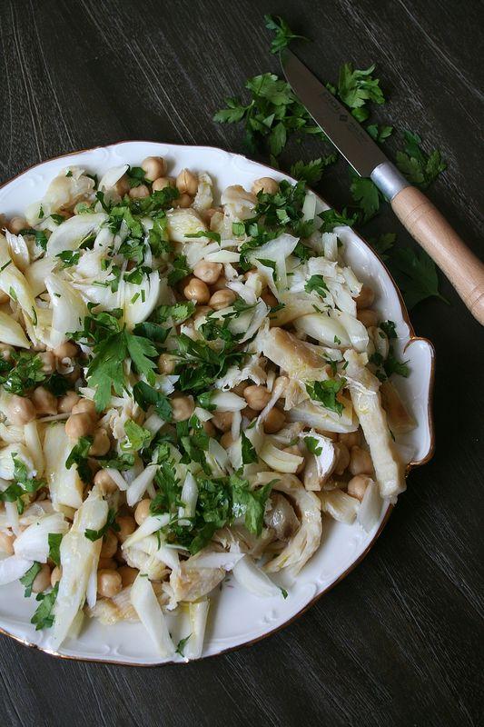 Salade de morue et pois-chiche � la portugaise