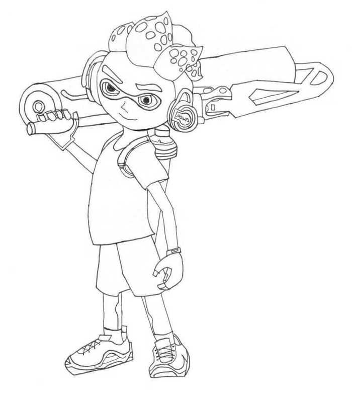 Printable Splatoon Coloring Pages In 2020 Coloring Pages Coloring Pages For Kids Coloring Pages To Print