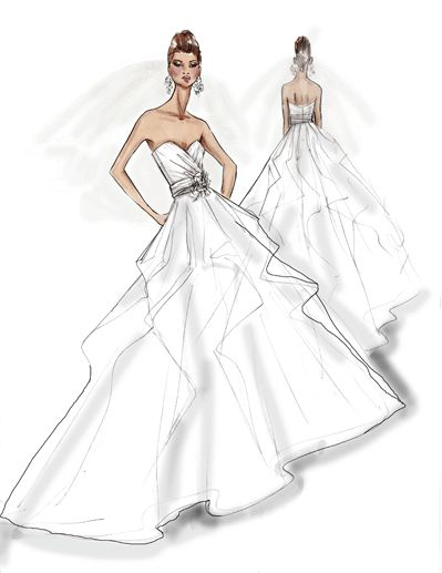 17 best images about wedding illustrations on pinterest Wedding dress illustration