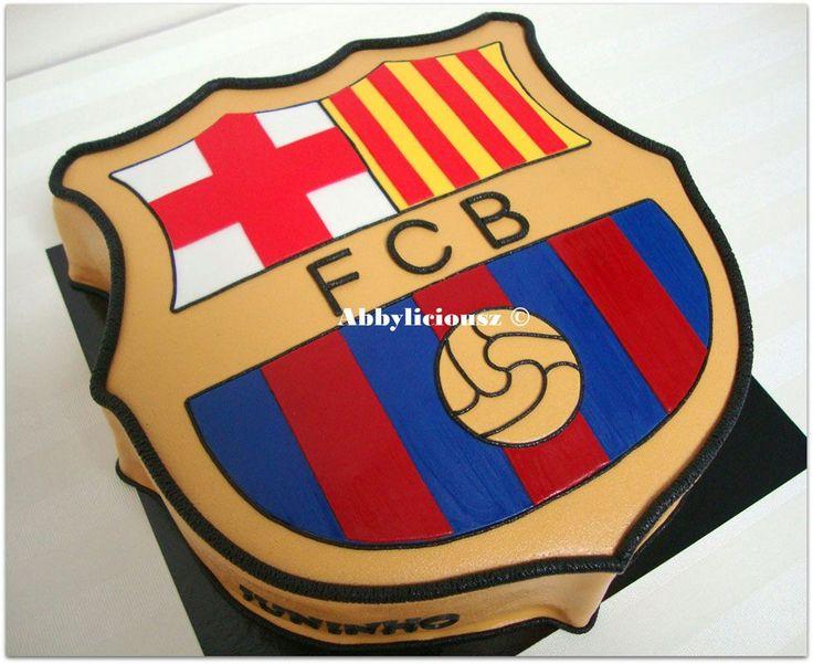 Cake Design Barcelona : FC Barcelona logo cake! Focis tortak Pinterest Fc ...