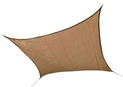ShelterLogic 25722 12'x12' Square Sand Sun Shade Sail by ShelterLogic. $69.99. Specially designed woven polyethylene allows rain to pass through; water will not collect or pool. Advanced engineered fabric blocks 90 percentage of harmful UVA and UVB rays yet is remarkably breathable allowing air to circulate. Reinforced stitched corners with all steel fittings attach quick and easy to mounting points. Shipped ready for installation with a basic install hardware kit; Us...