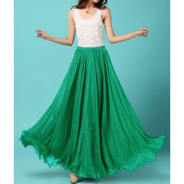 Green Chiffon skirt Maxi Skirt Wedding skirt Silk Chiffon Dress Plus... (110 BRL) ❤ liked on Polyvore featuring skirts, plus size long skirts, green chiffon maxi skirt, plus size long maxi skirts, chiffon skirt and long green skirt