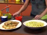 Rachel Ray Chicken Francese and Egg Tagliatelle Recipe