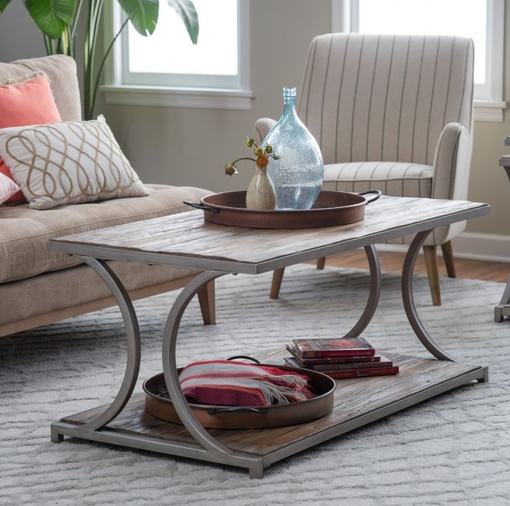 Industrial Grey Driftwood Open Coffee Table: 15 Must-see Driftwood Shelf Pins