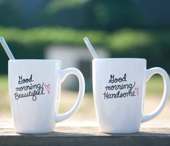 His and Hers Coffee Mugs: Crafts Ideas, Good Mornings, Coff Mugs, Gifts Ideas, Future, Couple Apartment Diy, Diy Gifts, Mornings Beautiful, Coffee Mugs
