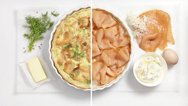 Rezept aus der Tante Fanny Kochwerkstatt: Räucherlachs-Quiche