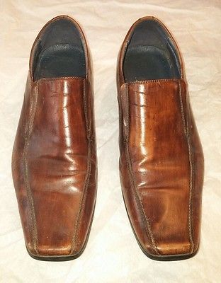 Aldo Square Toe Mens Euro 44/US 11 Brown Loafer Slip-On Shoes Dress/Casual
