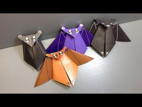 ▶ Free Origami Bat Paper - Print Your Own! - Halloween Bats - YouTube