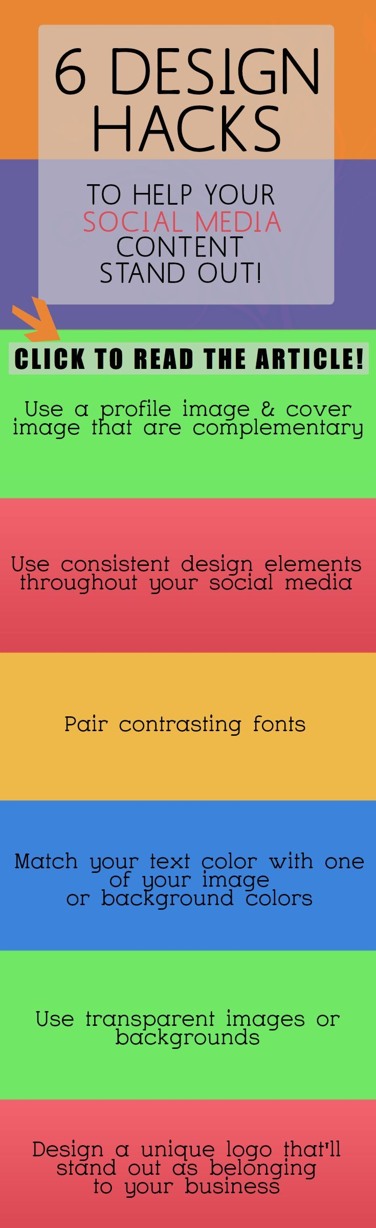 Social Media Design: 6 Design Hacks to help your social content stand out