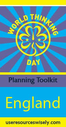Girl Scout World Thinking Day ideas, recipes, games and crafts for England. Learn about Girl Guides in United Kingdom.