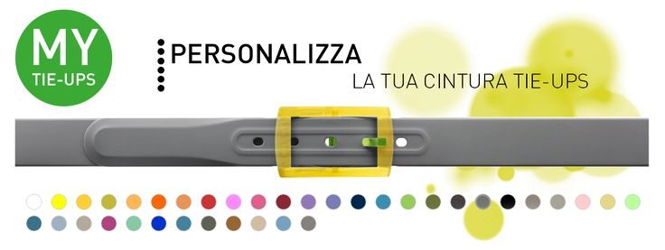 Personalizzare la propria cintura Tie-Ups è facilissimo! Scopri il configuratore per abbinare i colori per la cinghia, fibbia e ardiglione nell'abbinamento che vuoi per una cintura speciale, la tua.