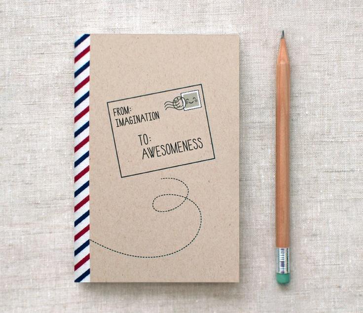 Handmade Sketchbook, Recycled, Brown - Postal via Etsy.
