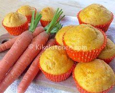Muffin alle carote alti e soffici senza burro