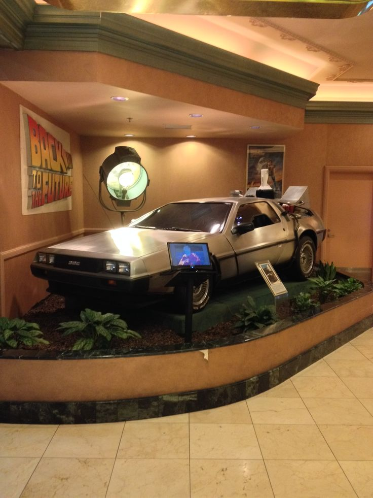 DeLorean from Back To The Future on display at the Hollywood Hotel & Casino in Tunica, MS