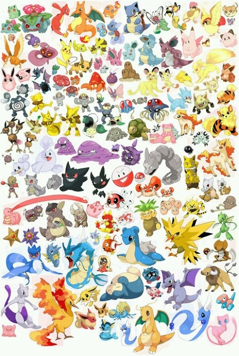 So someone asked me what my favorite Pokemon was... and I realized that I'm torn between Squirtle, Pikachu, Vulpix, Rapidash, Gyarados, Vaporeon, and Articuno >_< This is not alright.