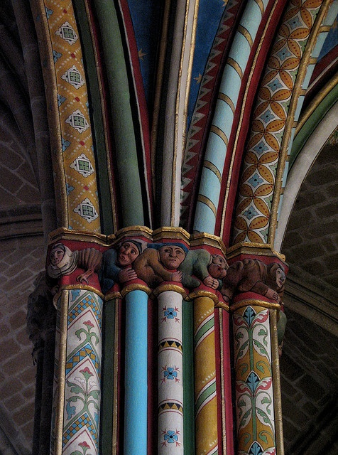 Cathedral St. Etiënne in #Limoges, France - architectural detail - polychromic #gothic construction began in 1273