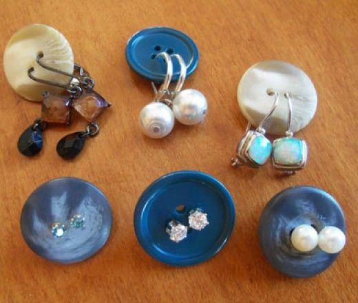 Button Organisatoren für Ohrringe | Einfache Organisation Ideen für das Haus