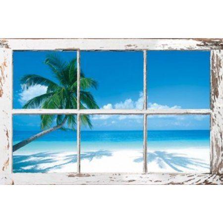 Tropical Window Poster Print (34 x 22)