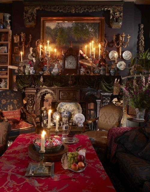 Gothic Room (interesting to look at, but a challenge to navigate between items of furniture)