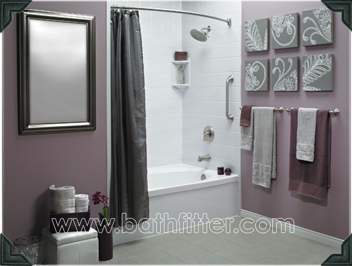 17 best ideas about purple bathrooms on pinterest for Purple and grey bathroom ideas