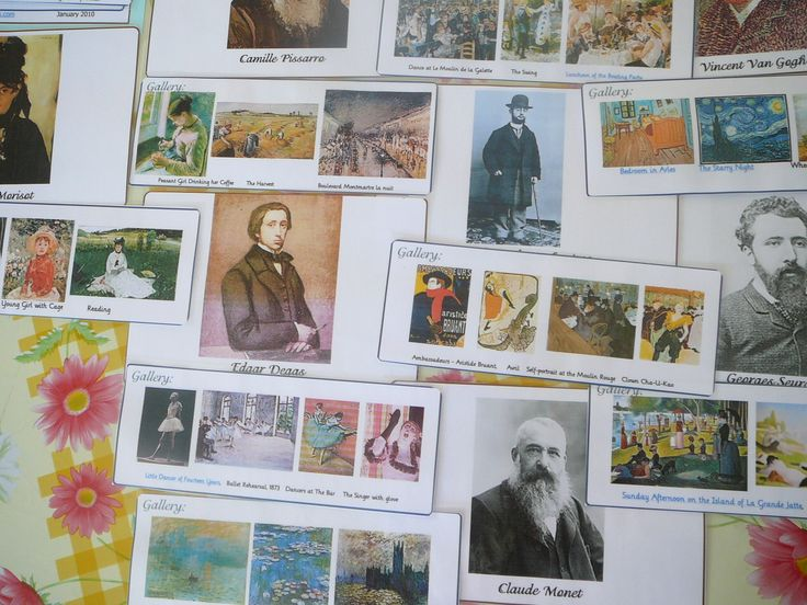 Freebieoftheday! Featuring Famous Impressionist Artists - Lapbook Lessons