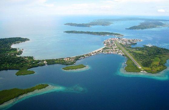 Aerial view of Bocas del Toro in Panama