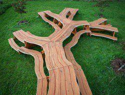 Branching Tavolo in legno di Michael Beitz