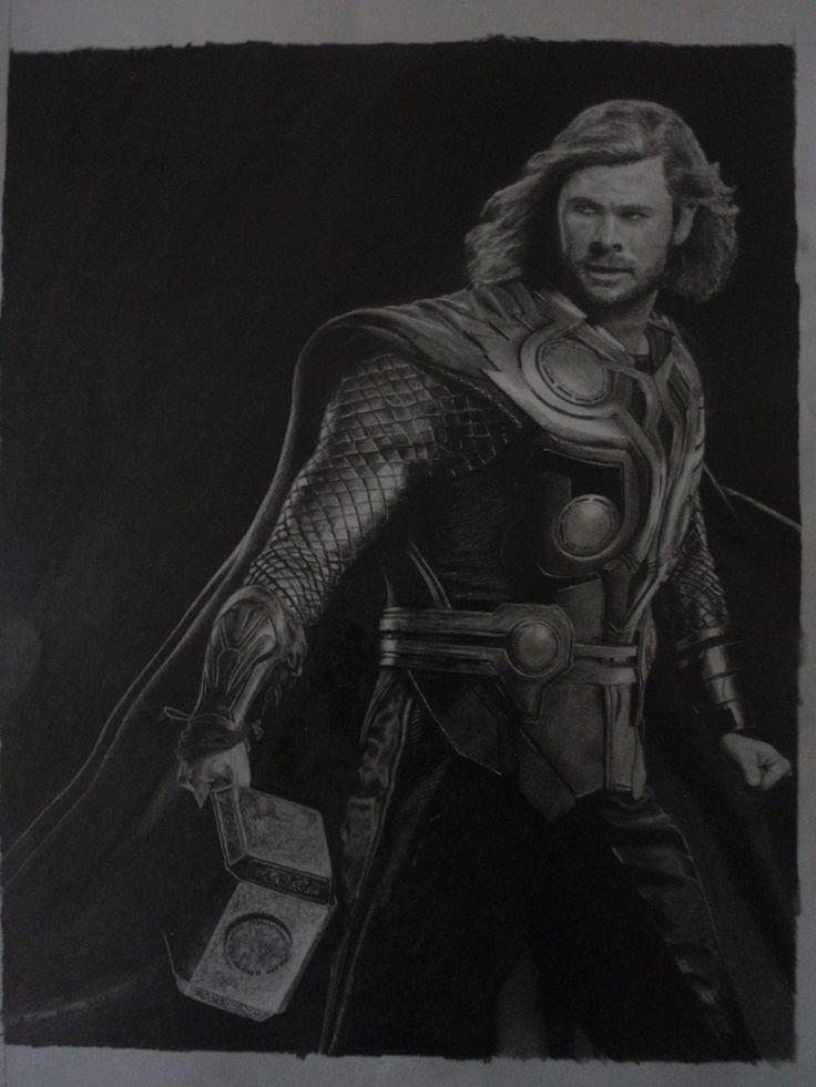 Pencil drawing of Thor: www.adrian-sandham.com