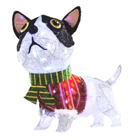 holiday living dog outdoor christmas decoration available at lowes boston terrier pinterest dogs outdoor dog and christmas decorations