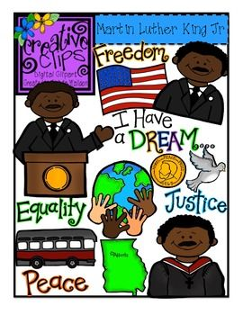 Martin Luther King Jr. Clipart for personal and commercial use. $