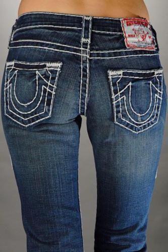 Sale Women TRUE RELIGION Bobby Super T Thick Stitch Bootcut Stretch Jean 28  X 33 #