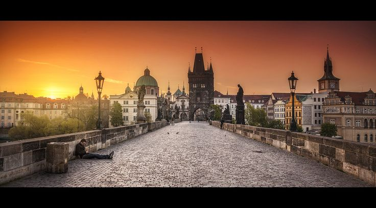 sunrise at the charles bridge in prague... contact for prints: roblfc1892@gmail.com All images are © copyright roblfc1892 - roberto pavic. You may NOT use, replicate, manipulate, or modi...