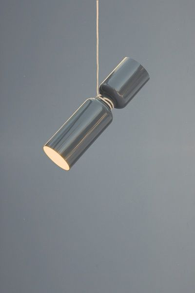 roomlight pendant lamp in glossy grey | lighting . Beleuchtung . luminaires | Design: Lukas Peet |