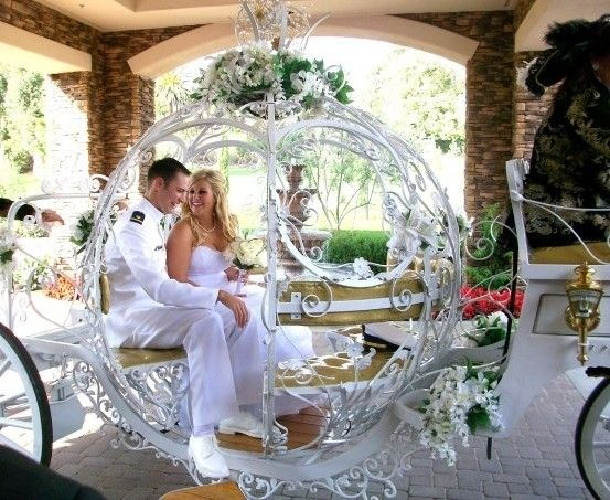 Wedding inspired by your favorite Fairy Tale? Get your own carriage for your grand entrance or exit.