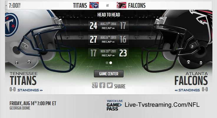 Watch Titans vs Falcons Live Online Streaming NFL Preseason 2015 | NonstopTvStream