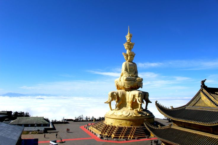 Emei Shan in China - one of the 4 Sacred Buddhist Mountains of China.