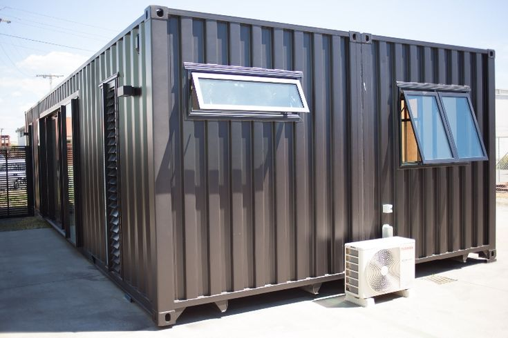 Cubular's Pacific show home. Two 40' containers