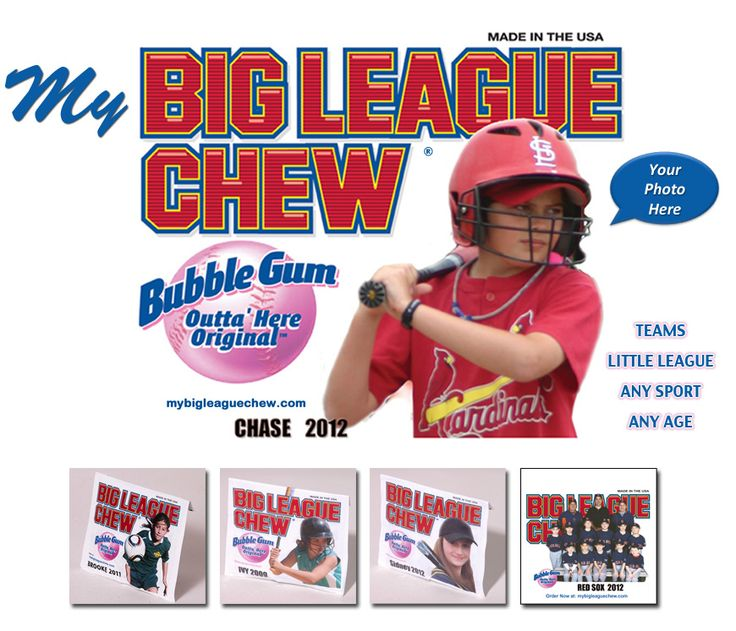 My Big League Chew-you can personalize pouches with your own picture.  You can even get a poster too.