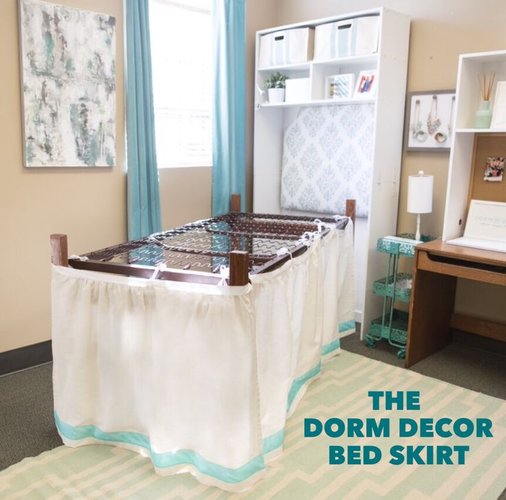 Custom Bed Skirt Panel – Dorm-Decor